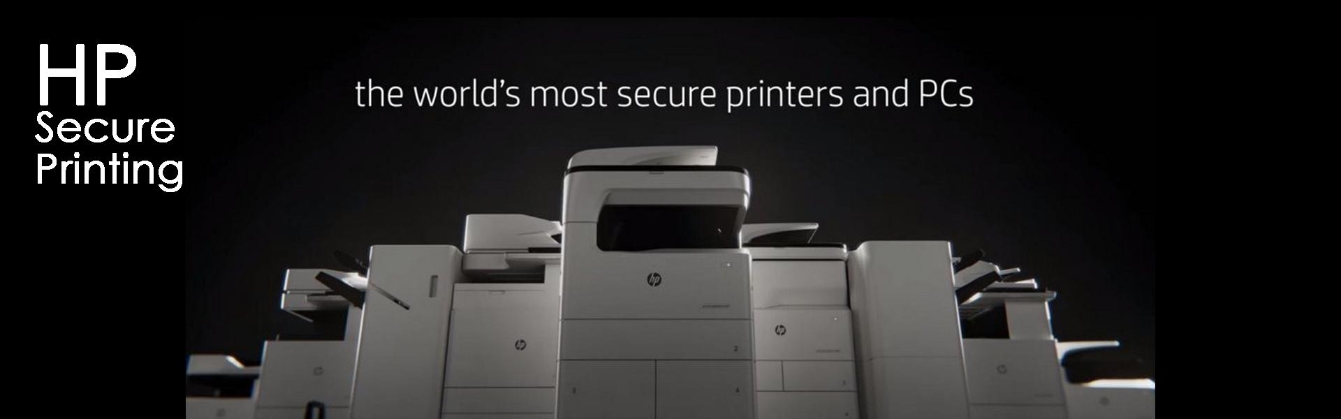 HP Secure Printing Banner